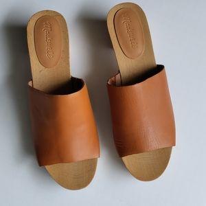 Madewell Evelyn Clog Slide Sandal Burnished Size 8